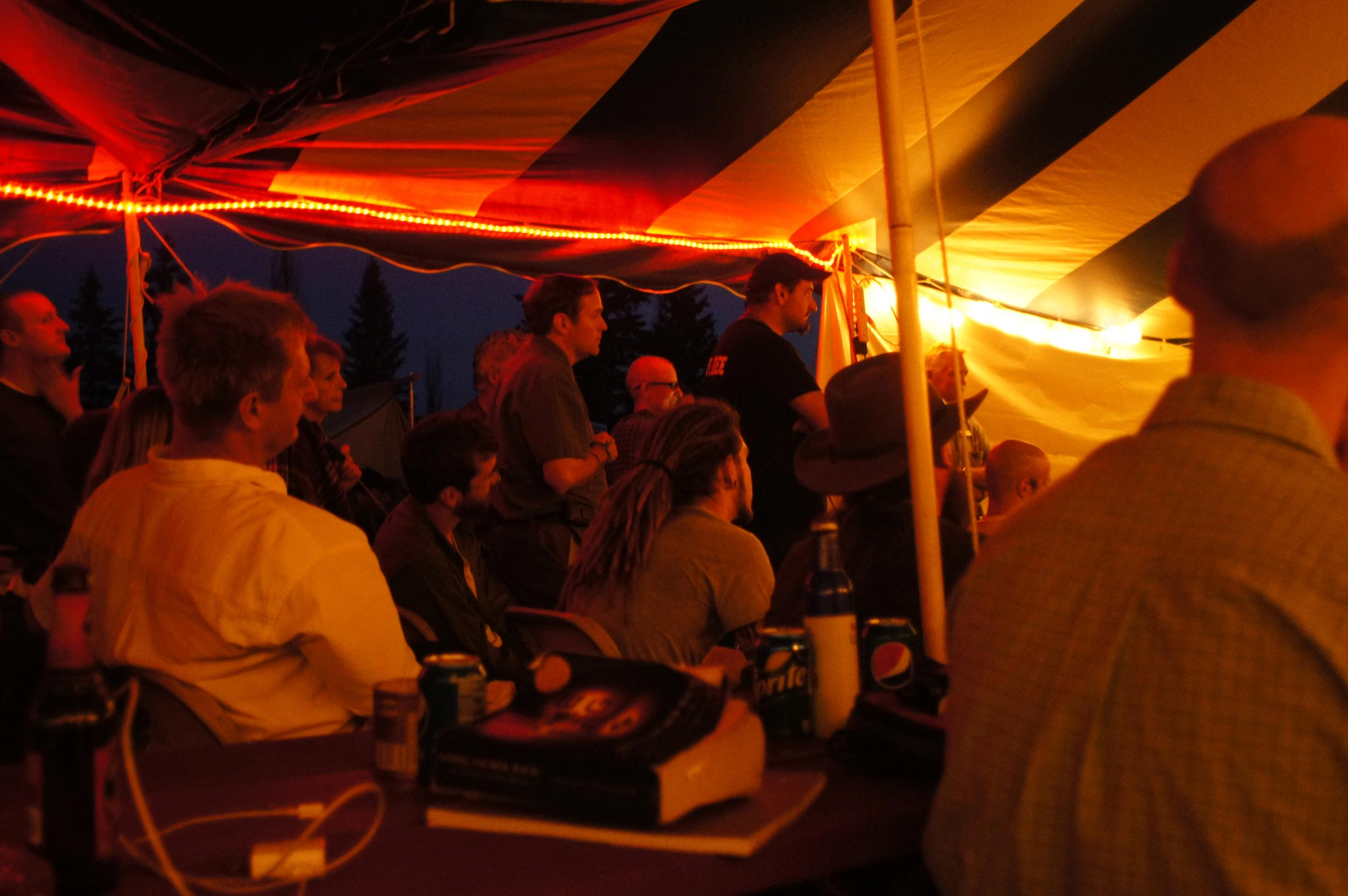 PorcFest night tent