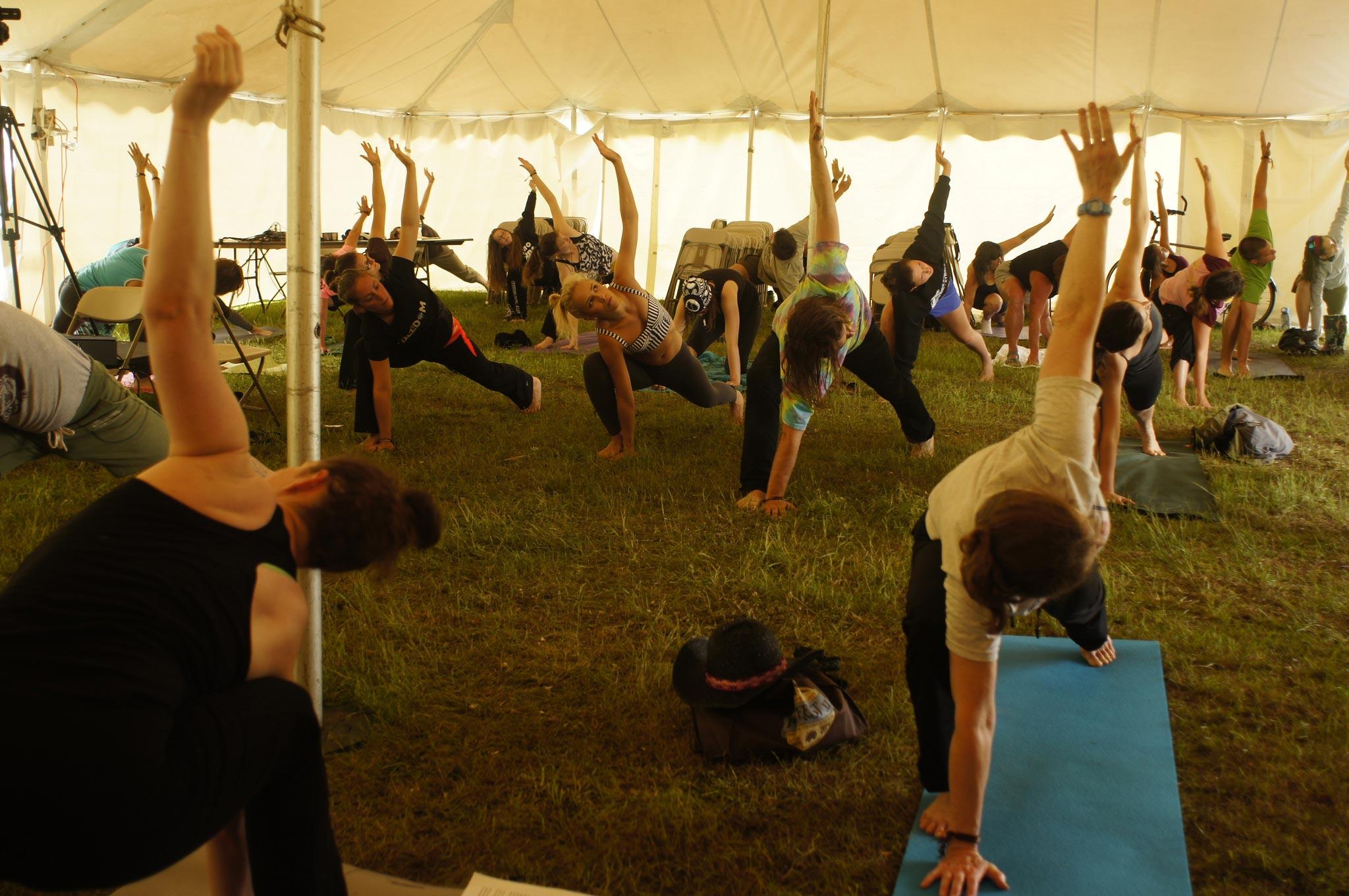 PorcFest yoga