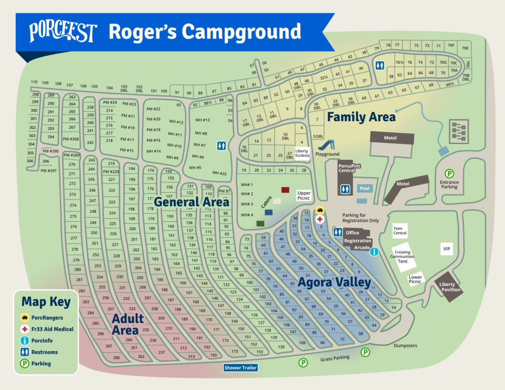 PorcFest Campground map 2017