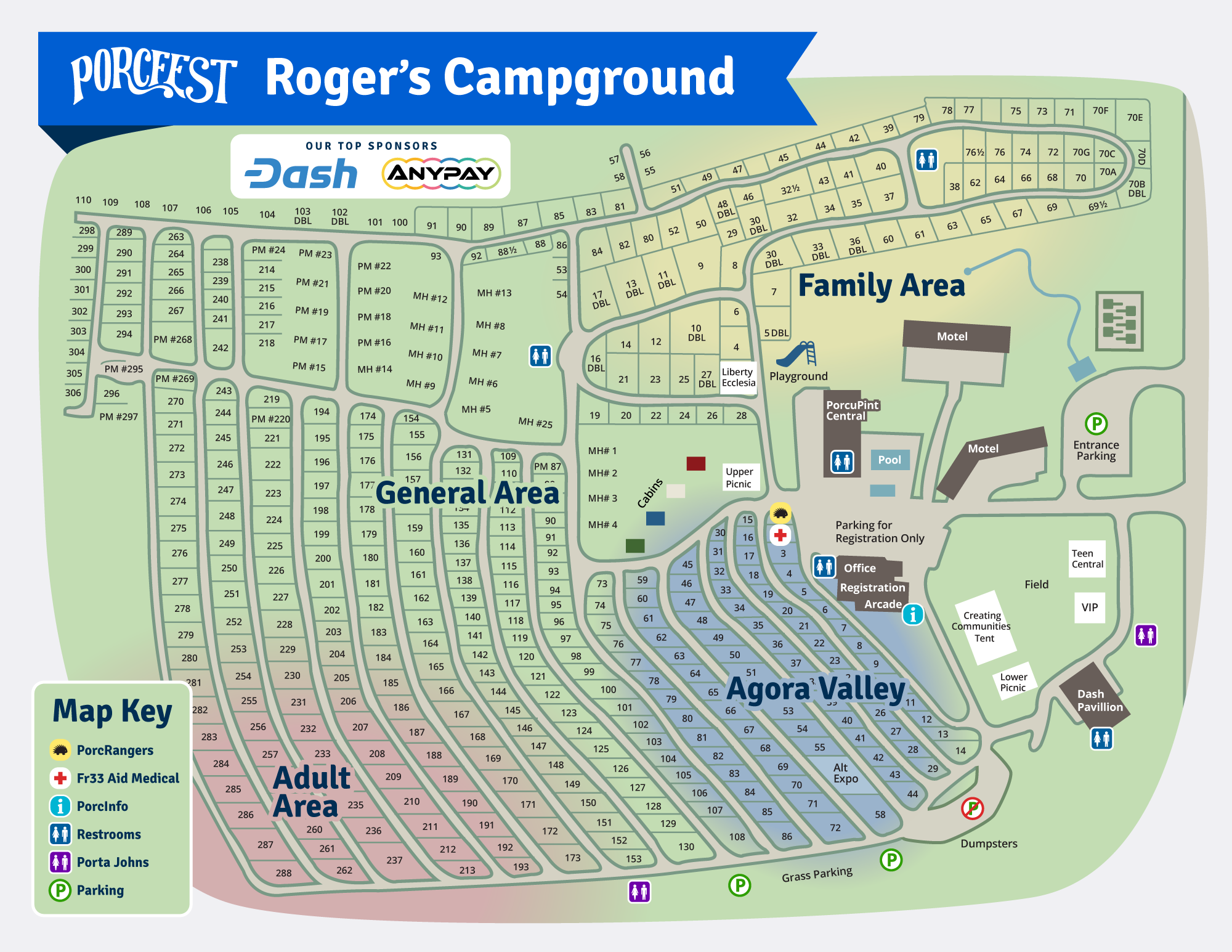 PorcFest campground map 2018